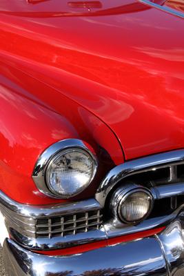 washing a classic car